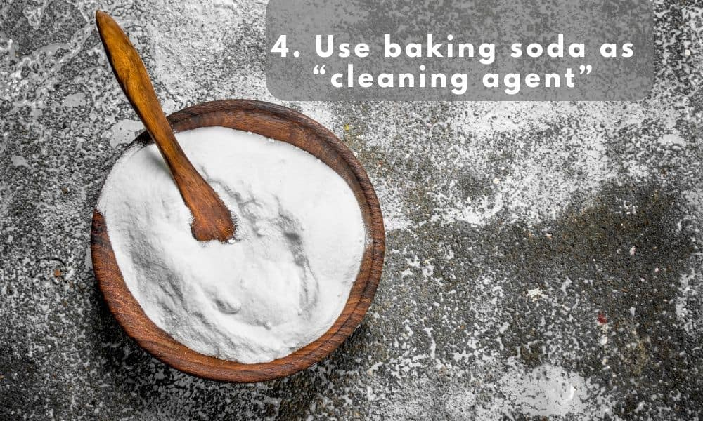 baking soda used as cleaning agent