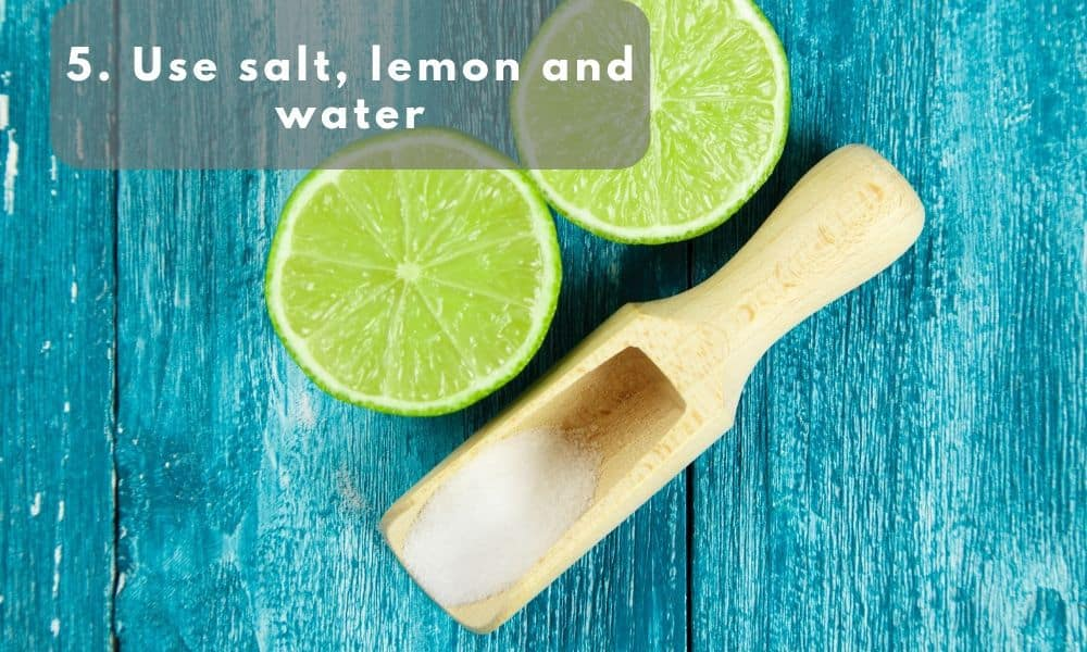 salt lemon and water used as cleaning agent