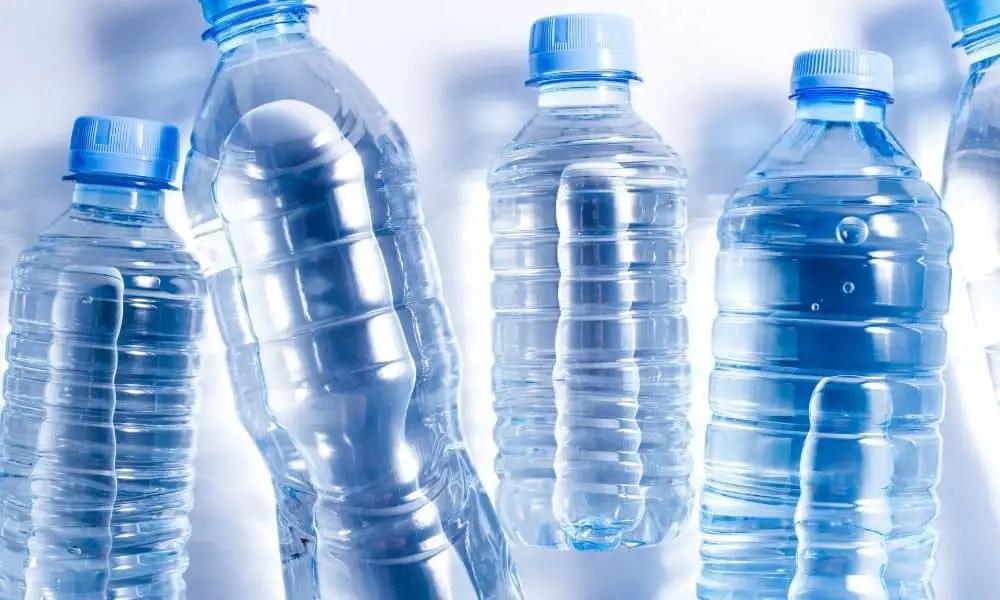 several plastic bottled water