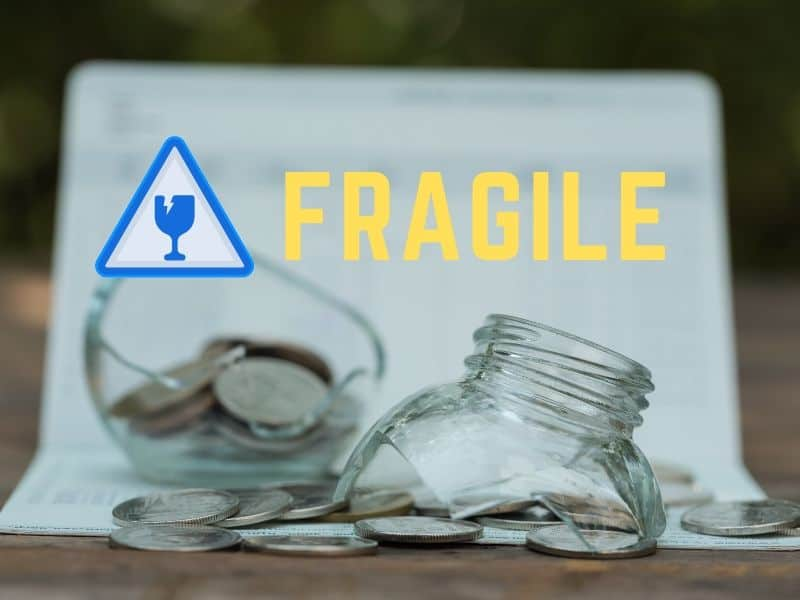 Fragile Glass Container