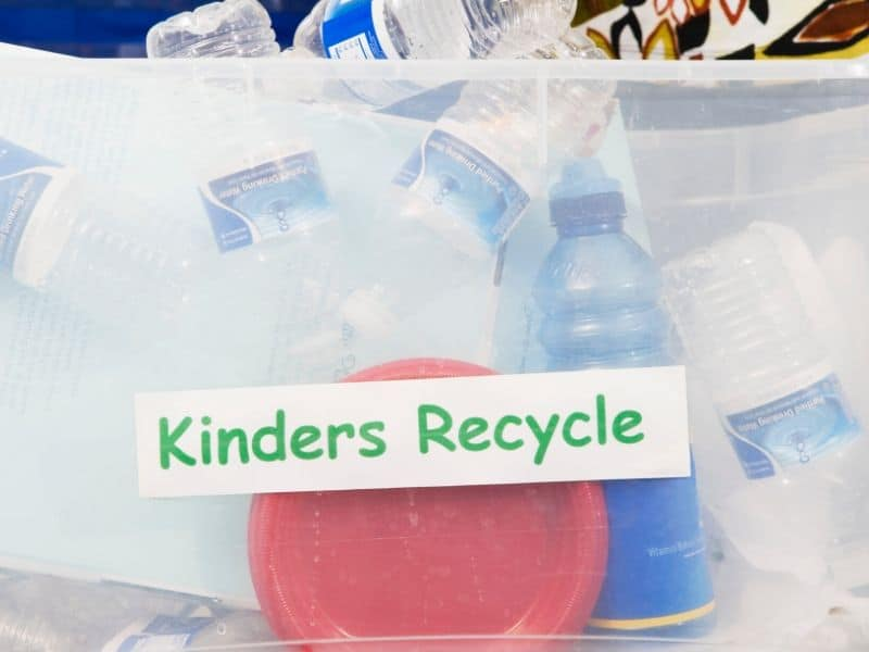 some recyclable plastic containers