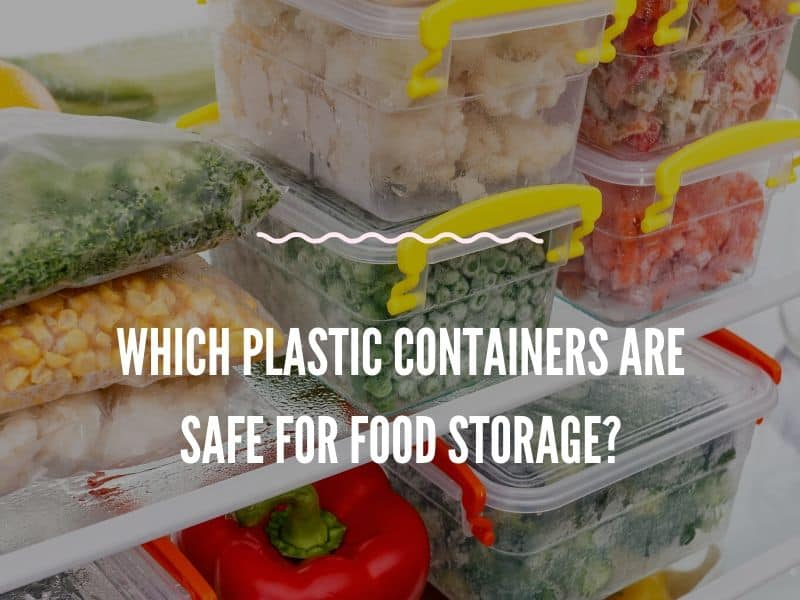 Plastic Food Containers with some frozen vegetables