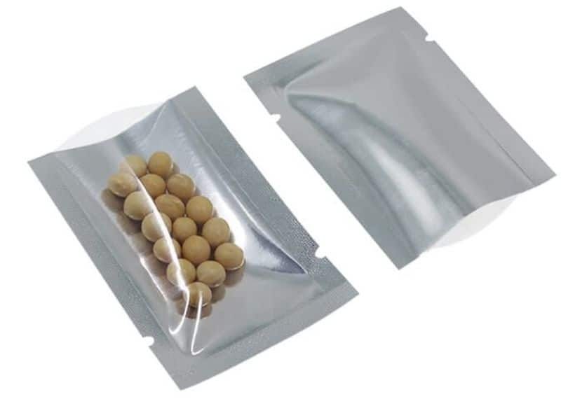 Mylar bags and some nuts inside