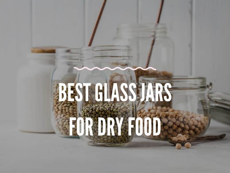 some Glass Jars fill with different nuts