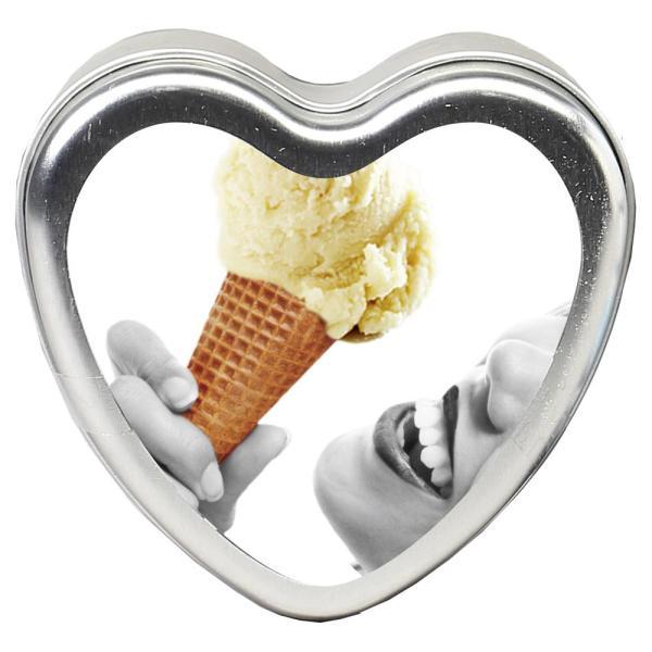 Earthly Body Edible Heart Candles Vanilla | Sex Lubricants