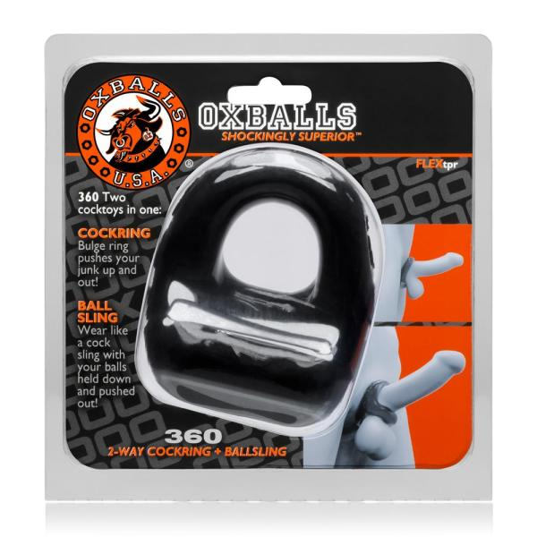 Oxballs 360 Cockring and Ballsling black3