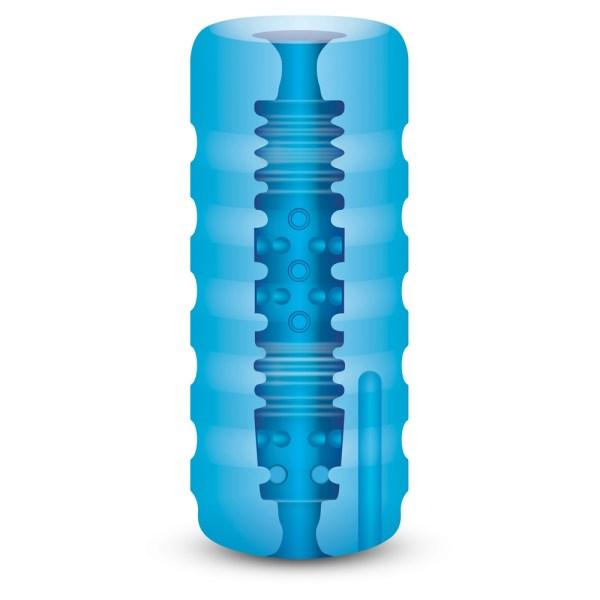 Zolo Backdoor Squeezable Vibrating Stroker Blue