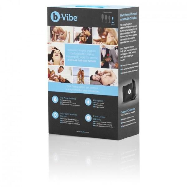 b-Vibe Snug1 Butt Plug Black1