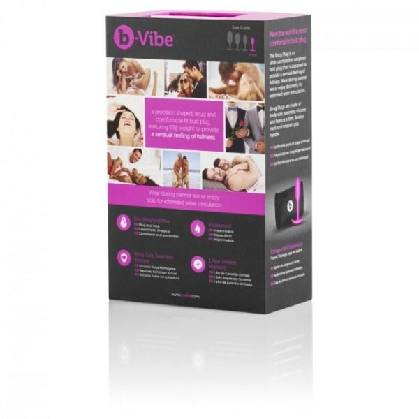 b-Vibe Snug1 Butt Plug FuchsiaSilver1