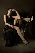 upcycled antique black dress