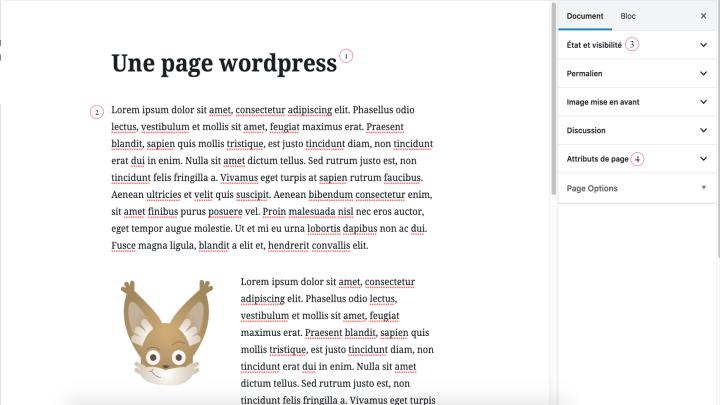 Les blocs de contenu des pages de WordPress