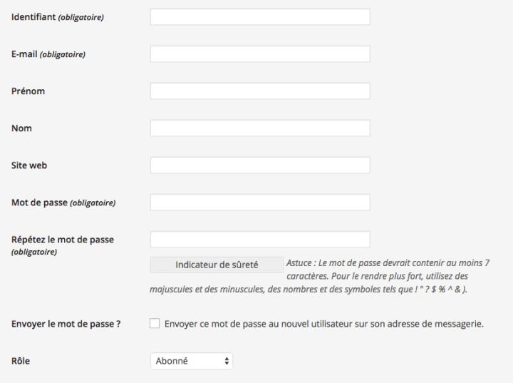 Comment ajouter un utilisateur WordPress