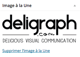 Image à la une sur un article WordPress