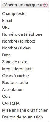 Les marqueurs de Contact Form 7