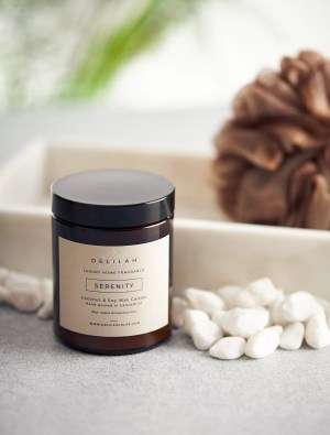 Serenity by Delilah Chloe, Luxury Lemongrass and Ginger fragrances soy wax, natural candle. Home & Body Fragrance
