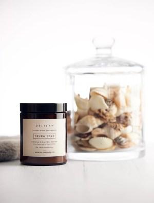 Bergamot & Amber Luxury Candle, Seven Seas by Delilah Chloe. Home & Body Fragrance