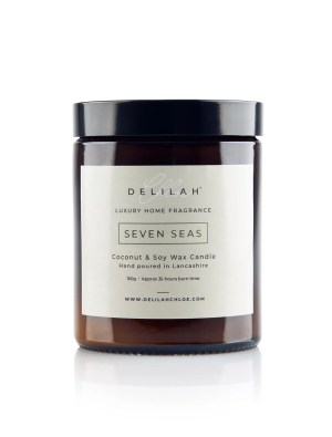 Bergamot & Amber Luxury Candle, Seven Seas by Delilah Chloe. Home & Body Fragrance