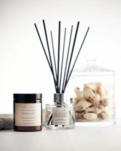 Seven Seas Candle and Reed Diffuser Set, Luxury Home Fragrance by Delilah Chloe