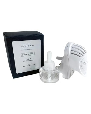 Botanical Plug-in Air Freshener by Delilah Chloe home fragrance. Luxury Plum & Patchouli fragranced plug-in