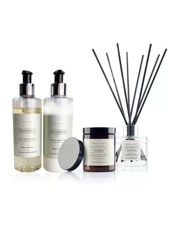 Islands Gift Set, luxury Lime, Basil & Mandarin Home Fragrance by Delilah Chloe