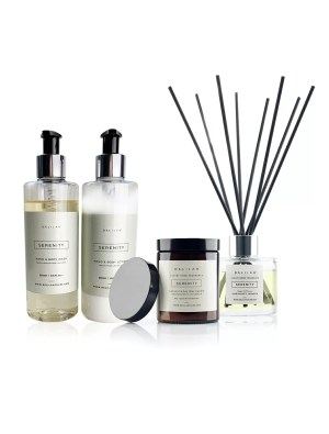 Serenity Gift Set, Lemongrass & Ginger Luxury Home Fragrance gifts by Delilah Chloe