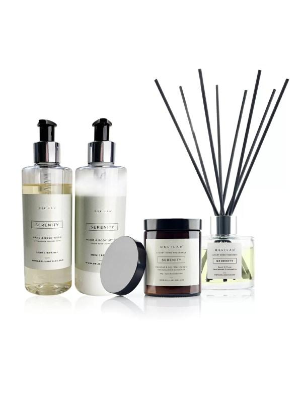 Serenity Gift Set, Lemongrass & Ginger Luxury Home Fragrance gifts by Delilah Chloe