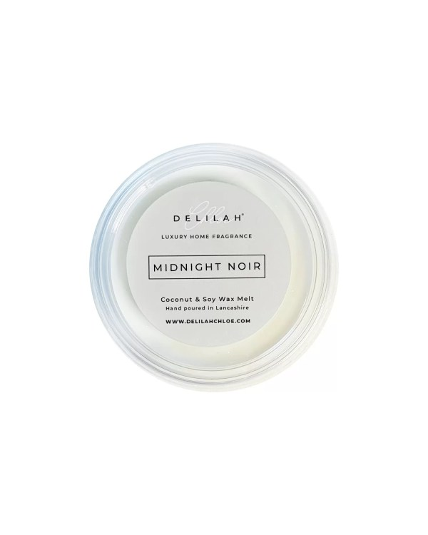 Midnight Noir Soy Wax Melt by Delilah Chloe. Black Fig & Vetiver fragranced Soy Wax Melt.