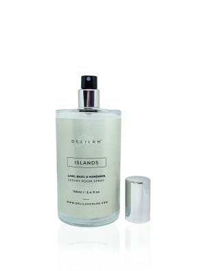 Lime, Basil & Mandarin scented luxury room spray. Islands scent by Delilah Chloe