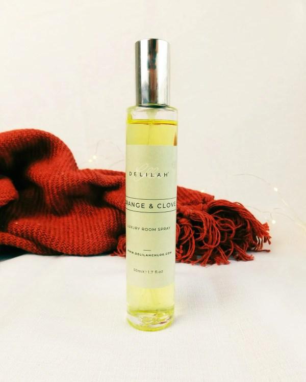 Orange & Clove Room Spray, Luxury Christmas Fragranced Room Spray. Home Fragrances by Delilah Chloe