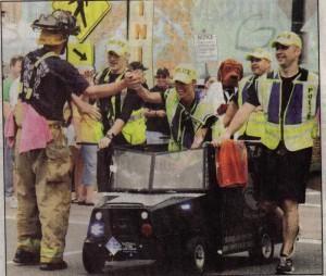 cops v firemen tub race