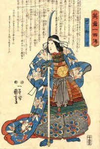 Samurai woman with naginata