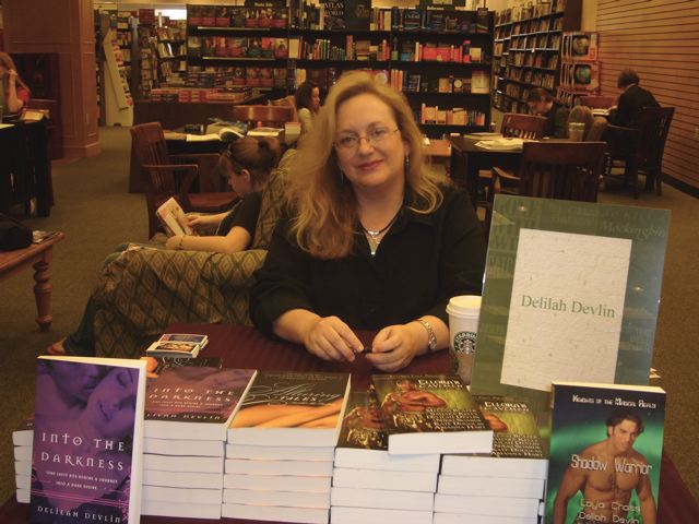 Delilah at Booksigning