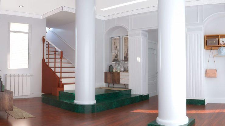 renders 3D hall