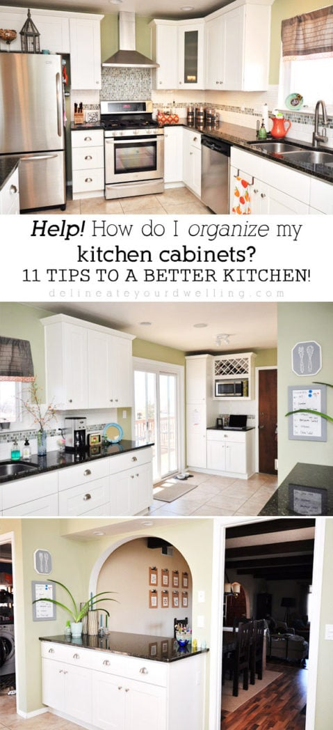 11 Tips For Organizing Your Kitchen Cabinets In The Most