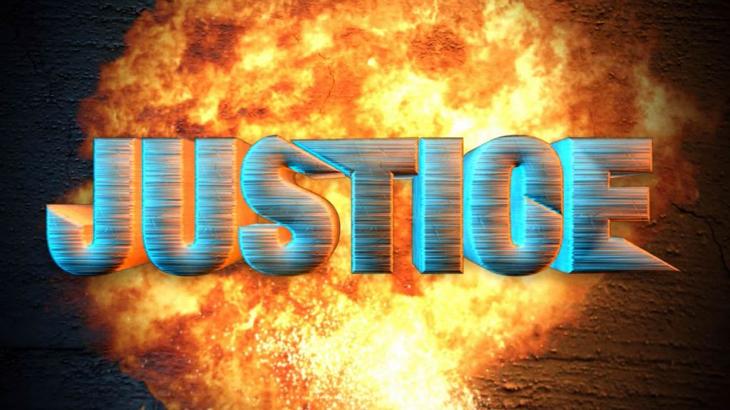 Motion graphics and title design for Justice