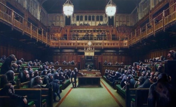 putting-the-mps-into-chimps-at-banksy-versus-bristol-museum1222