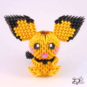 3d origami diagram animals switch to light wiring pichu delinlea my little fantasy world if you have no clue what is well it s almost like paper lego only fold the same piece over and again