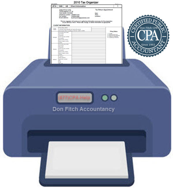 2010 Tax Organizer - Click on the above to Download the 2010 Tax Organizer in pdf format