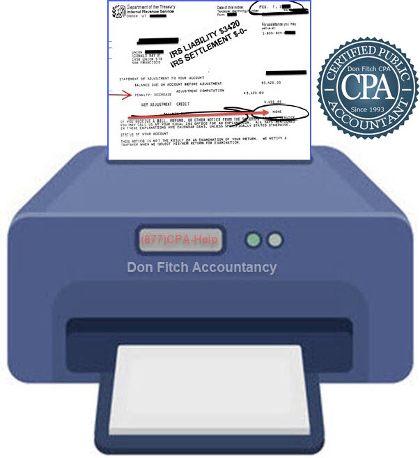 Actual IRS Penalty Abatement Letter for Union - 3.4k Abated