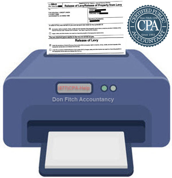 IRS Bank Levy Release Engagement Paperwork