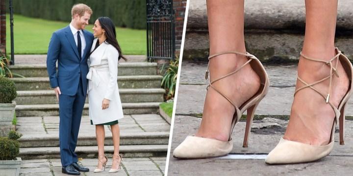 megham markle zapatos anuncio boda