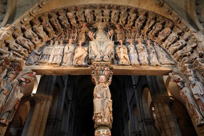 El Pórtico de la Gloria de la Catedral de Santiago de Compostela