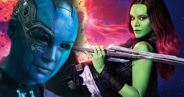 Nebula e Gamora