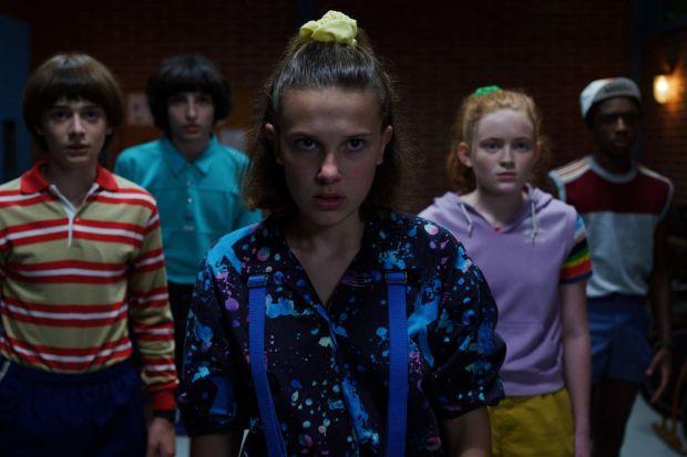 Will, Mike, Eleven, Max e Lucas