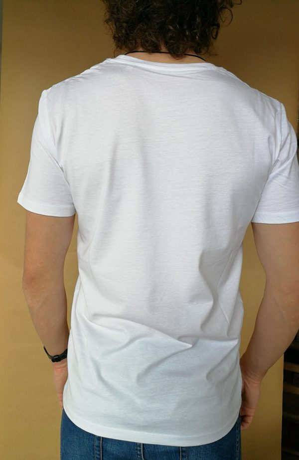 Camiseta Cortesia manga corta color blanco hombre