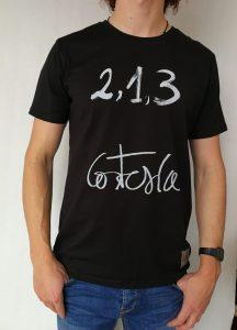 Camiseta Cortesia manga corta color negro hombre