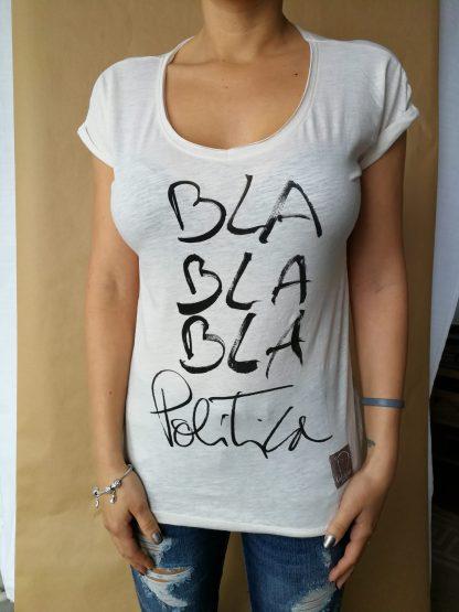 "Camiseta chica manga corta ""POLITICA"""