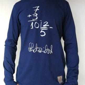 Camiseta solidaridad manga larga color azul hombre