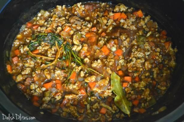 Slow Cooker Turkey Bolognese | Delish D'Lites