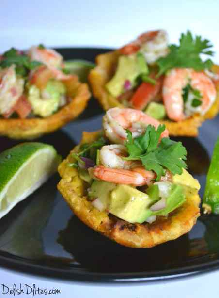 Plantain Cups with Shrimp and Avocado Salad | Delish D'Lites